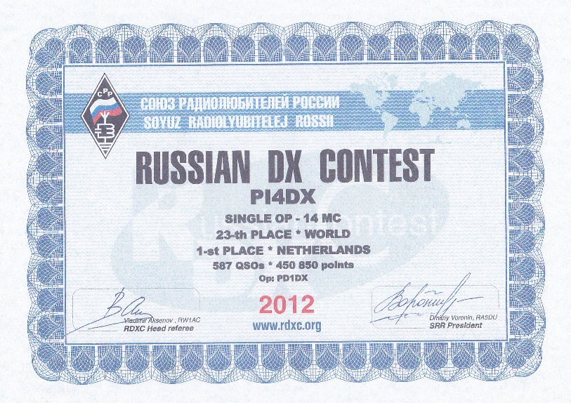 2012 Russian DX PI4DX